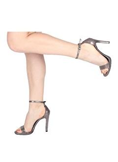 Modabuymus Modabuymus Rugan Tek Bantlı İnce Platform Topuklu Ayakkabı -Pirlx